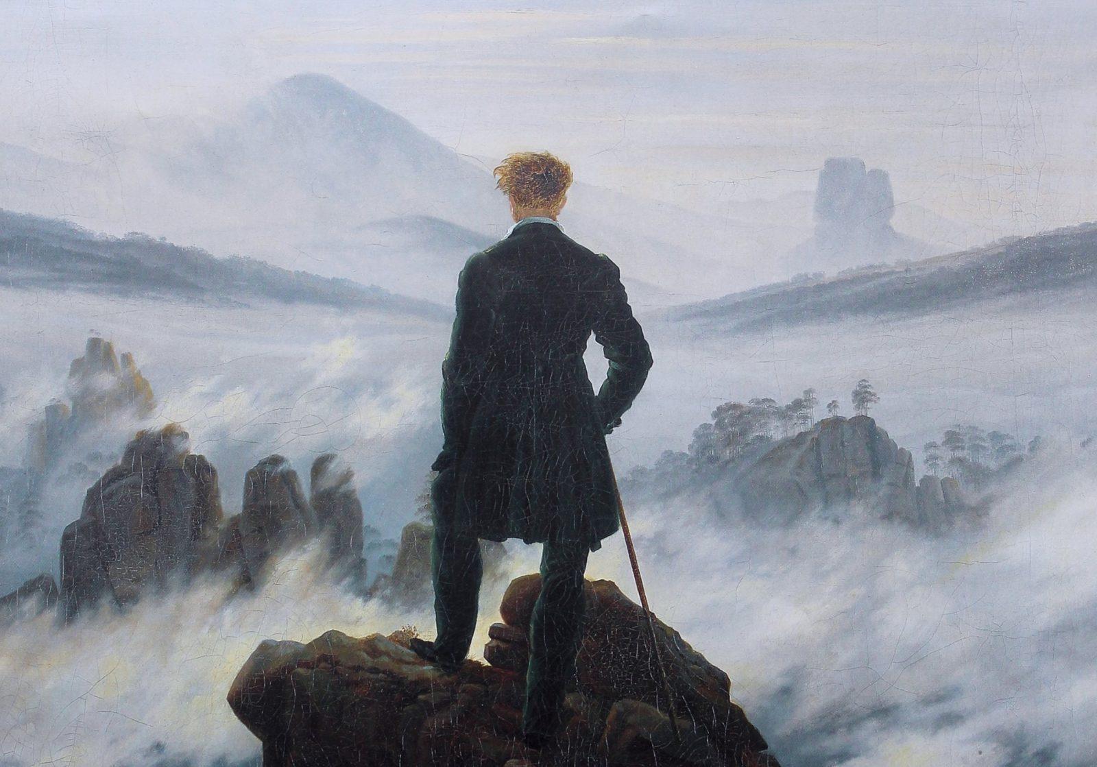 Dipinto Viandante Sul Mare Di Nebbia Di Caspar David Friedrich