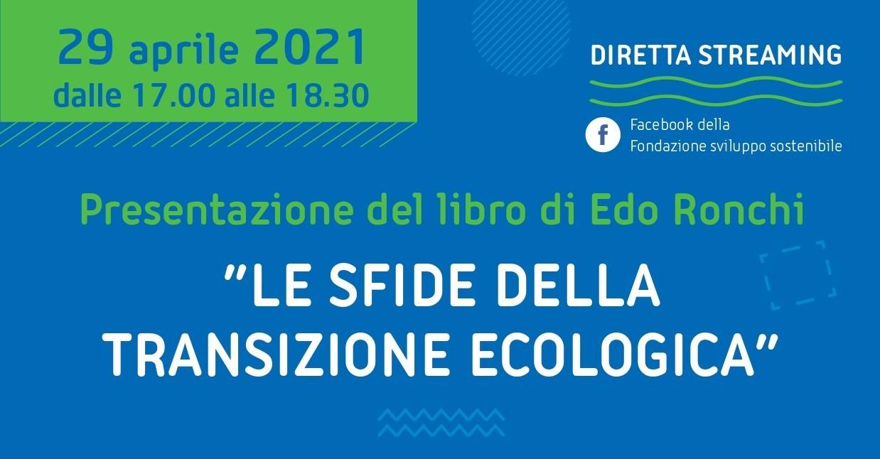Locandina della presentazione del libro Le sfide della transizione ecologica