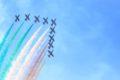 Aerei Frecce Tricolori Che Puntano Alto Nel Cielo